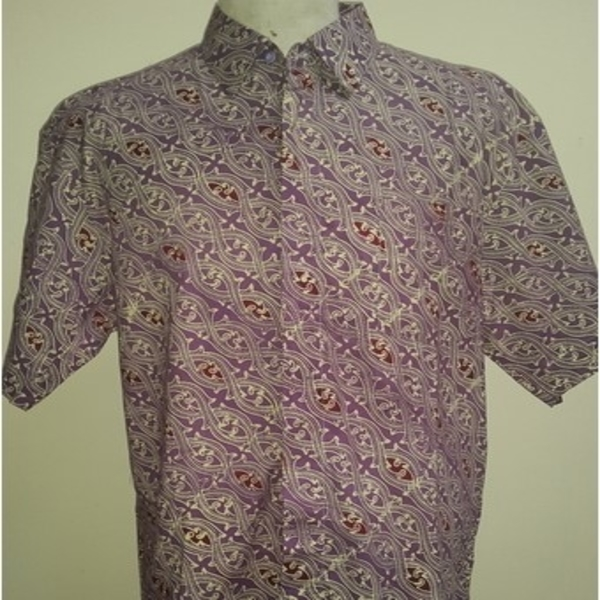 Kemeja Batik Katun Minang Inaaya Ungu