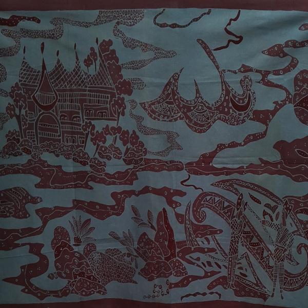 Lukisan Dinding Batik Minang Inaaya