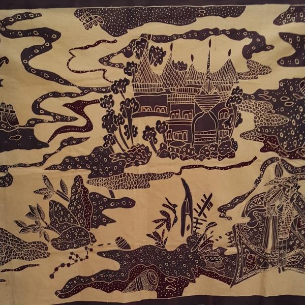 Lukisan Dinding Batik Tulis Katun Minang Inaaya