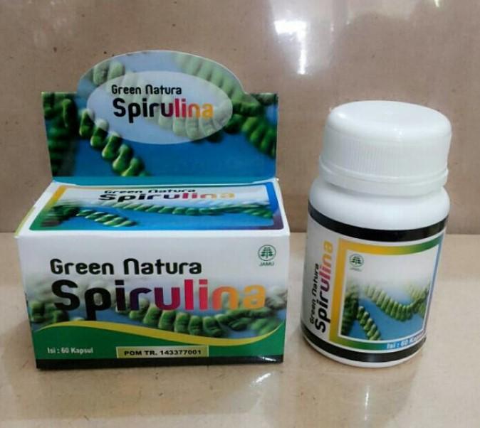 Green Nature Spirulina Isi 60 Kapsul