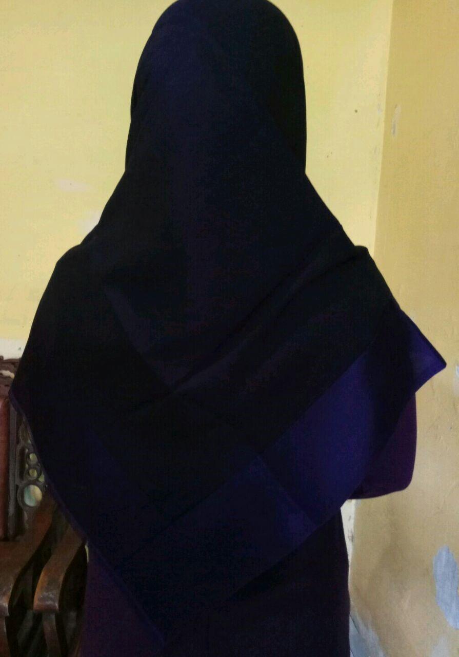 Jilbab Turki Dark Purple vs Black