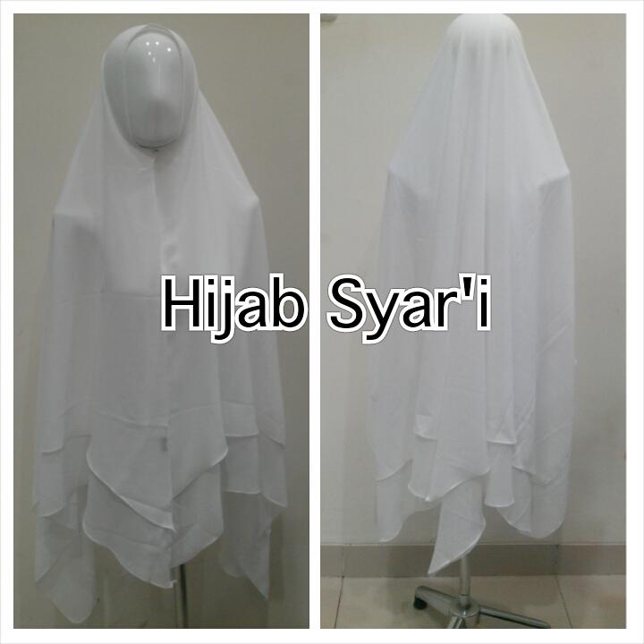 Hijab Syar'i White