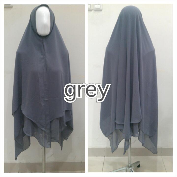 Hijab Syar'i Grey