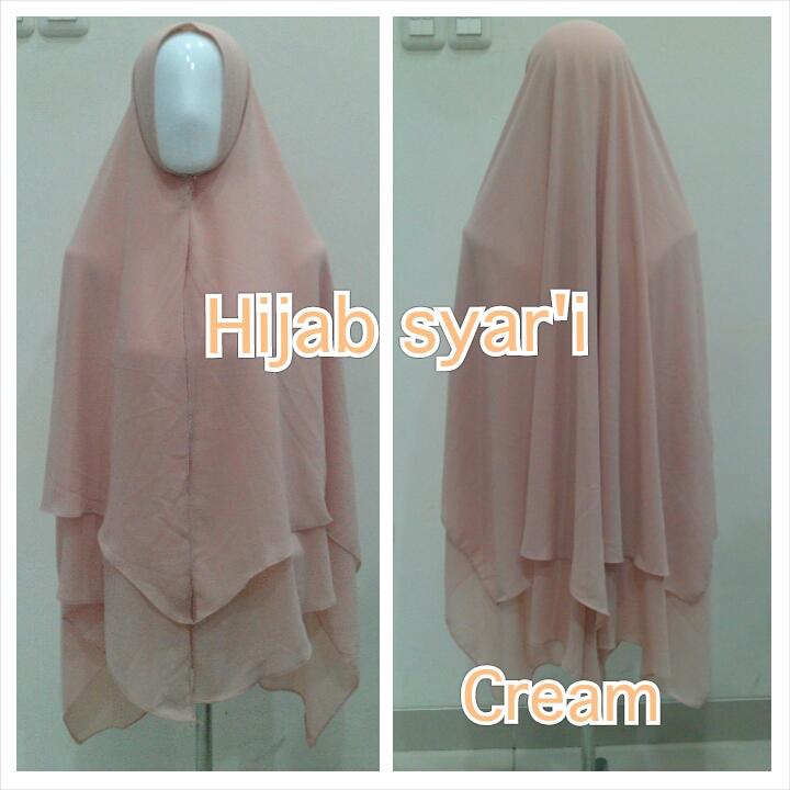 Hijab Syar'i Cream