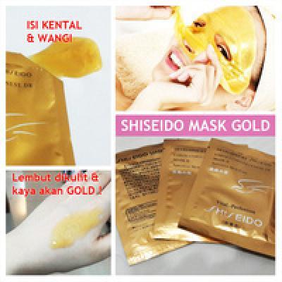 SHISEIDO GOLD Masker Lumpur Emas Naturgo Whitening Gold Mask 24K