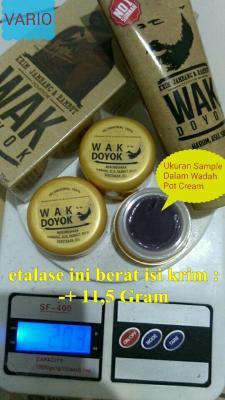 cream krim wak doyok wakdoyok rambut jambang sample jar original 100