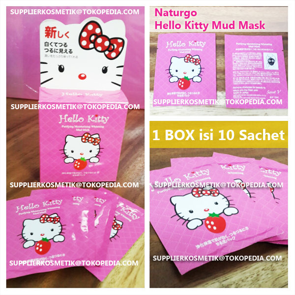 Naturgo Hello Kitty Facial Whitening Mud Mask Mask Lumpur HK