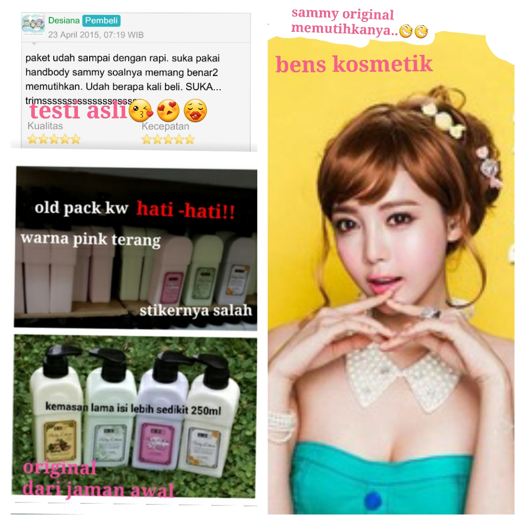 SAMMY WHITENING BODY LOTION SAMI LOTION PEMUTIH BODY LOTION KOREA ori